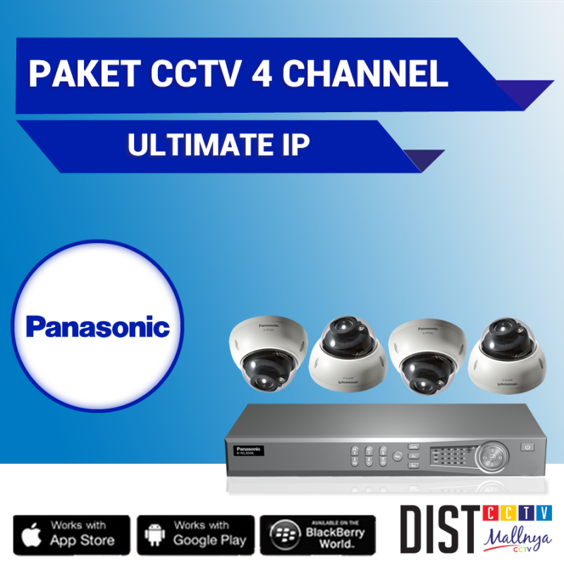 Paket CCTV Panasonic 4 Channel Ultimate IP