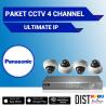 Paket CCTV Panasonic 4 Channel Ultimate IP