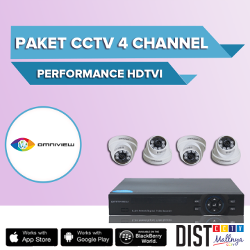Paket CCTV Omniview 4 Channel Perfomance HDTVI