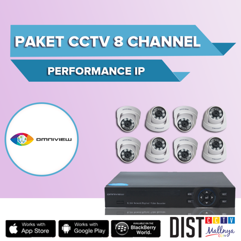 Paket CCTV Omniview 8 Channel Performance IP