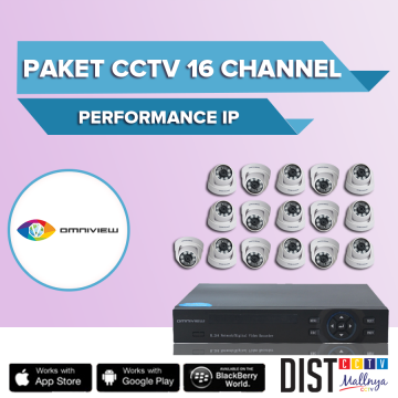 Paket CCTV Omniview 16 Channel Performance IP