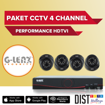 Paket CCTV G-Lenz 4 Channel Performance HDTVI