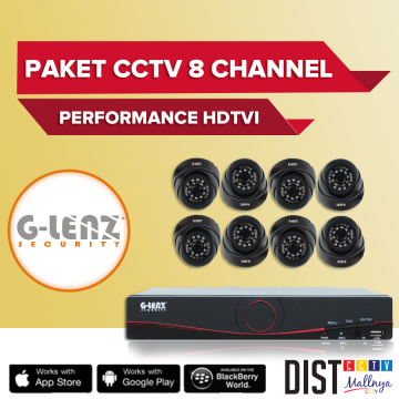 Paket CCTV G-Lenz 8 Channel Performance HDTVI