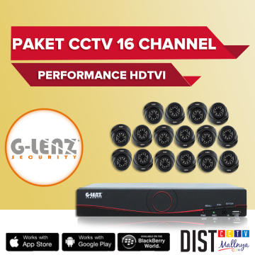 Paket CCTV G-Lenz 16 Channel Performance HDTVI