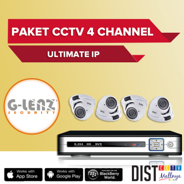 Paket CCTV G-Lenz 4 Channel Ultimate IP