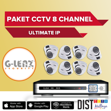 Paket CCTV G-Lenz 8 Channel Ultimate IP