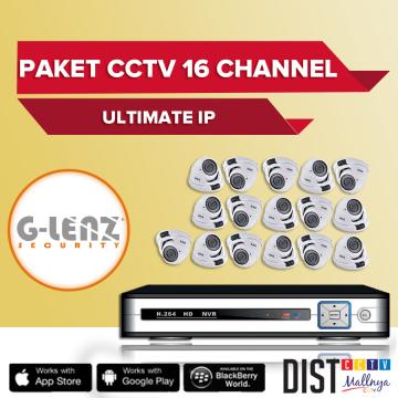 Paket CCTV G-Lenz 16 Channel Ultimate IP