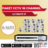 Paket CCTV G-Lenz 16 Channel Ultimate IP