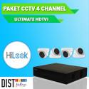 www.distributor-cctv.com - Paket CCTV HiLook 4 Channel Ultimate HDTVI