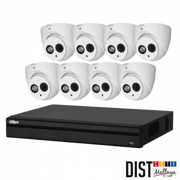 Paket CCTV Dahua 8 Channel HD 4MP