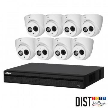 Paket CCTV Dahua 8 Channel HD 4MP