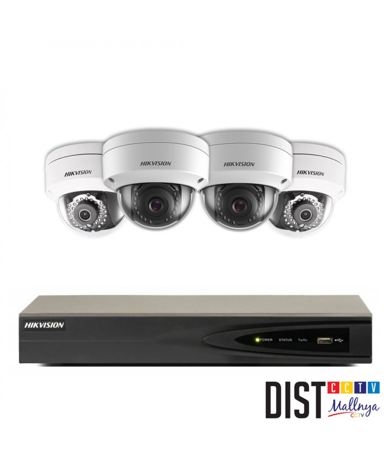 Paket CCTV Hikvision 4 Channel Performance IP