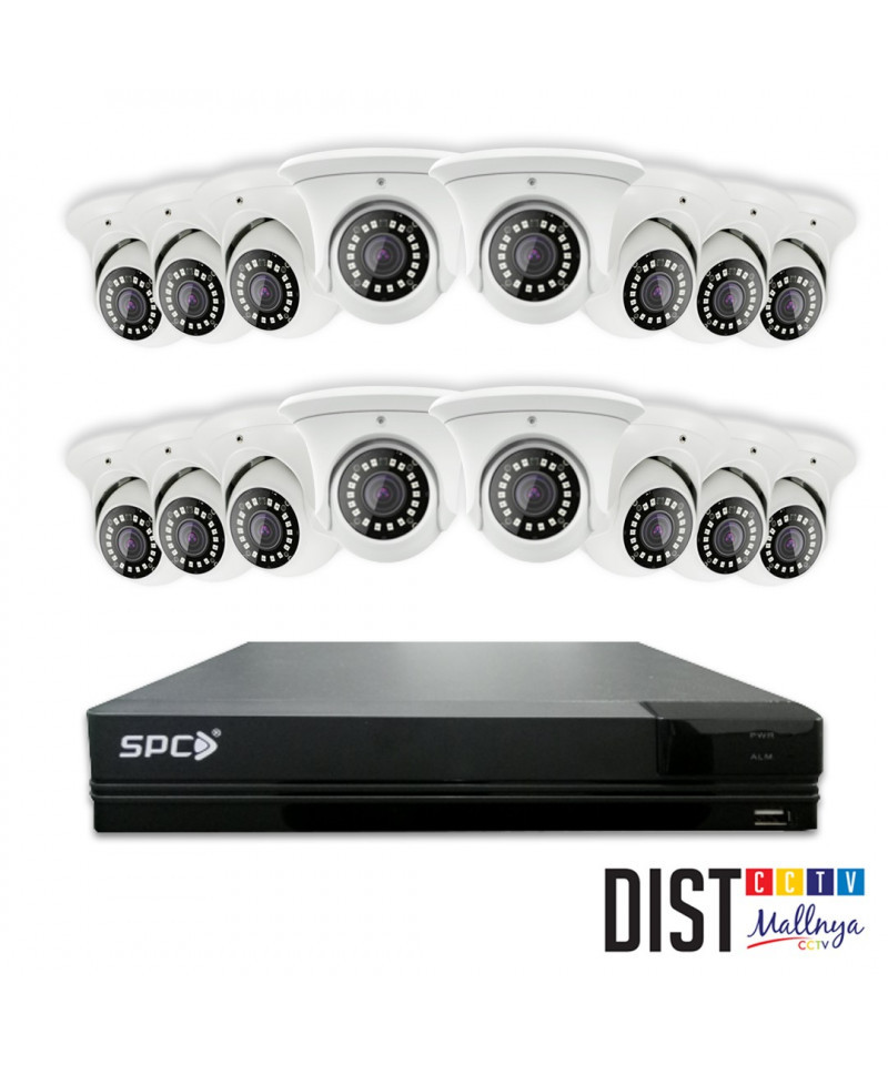 Paket CCTV SPC 16 Channel Ultimate 4 in 1 (DAY NIGHT COLOUR ON)