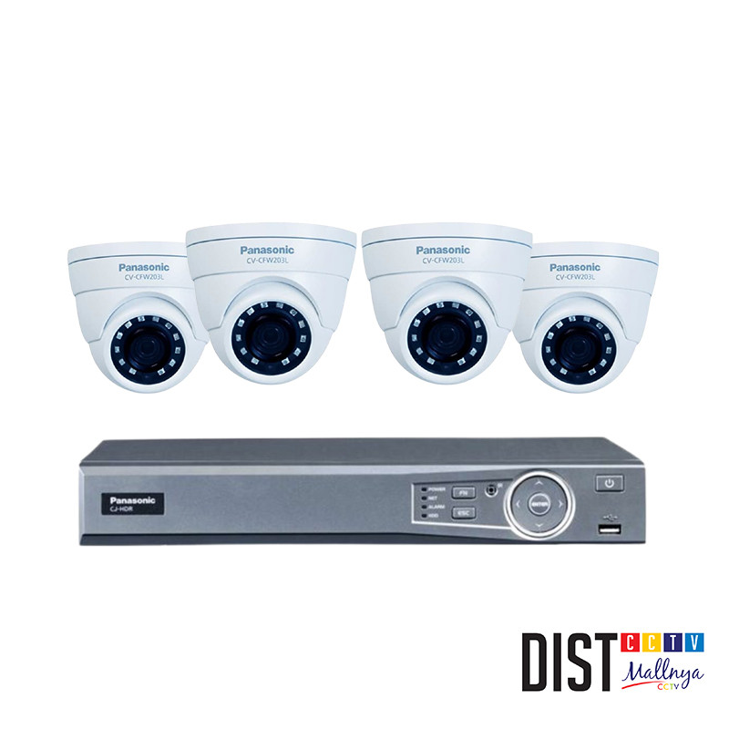 Paket CCTV Panasonic 4 Channel Ultimate