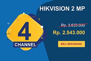 Promo Pahlawan Paket CCTV Hikvision 4 Channel Ultimate