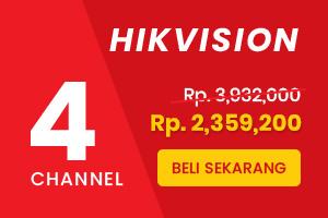 Paket CCTV Hikvision 4 Channel Siap Pasang