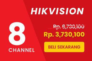 Paket CCTV Hikvision 8 Channel Siap Pasang