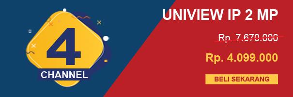 Promo 2019 Paket CCTV Uniview IP 4 Channel